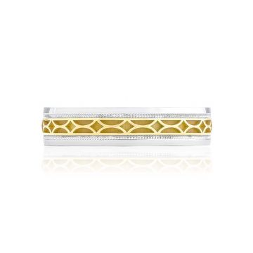 Tacori Two Tone 18k Gold Sculpted Crescent Wedding Band