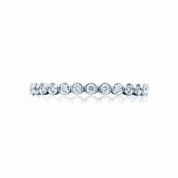 Tacori Platinum Sculpted Crescent Anniversary Wedding Band