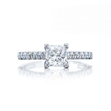 Tacori Platinum Sculpted Crescent Straight Engagement Ring