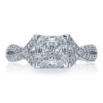 Tacori Platinum  Ribbon Criss Cross Diamond Engagement Ring