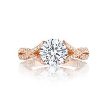 Tacori 18k Rose Gold Ribbon Criss Cross Engagement Ring