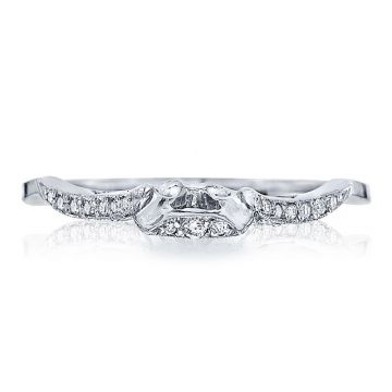 Tacori Platinum Ribbon Diamond Curved Women's Wedding Band