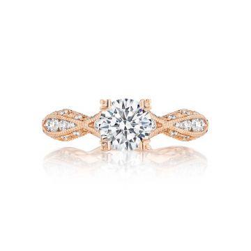 Tacori 18k Rose Gold Classic Crescent Criss Cross Engagement Ring