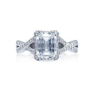 Tacori Dantela Platinum Halo Engagement Ring 2627eclg