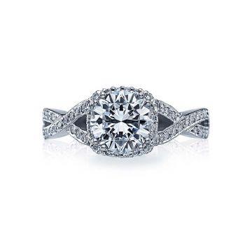 Tacori Platinum Dantela Criss Cross Engagement Ring