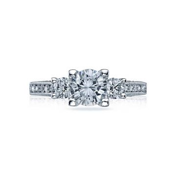 Tacori Platinum Simply Tacori 3 Stone Engagement Ring