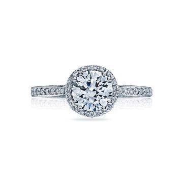 Tacori Platinum Dantela Split Shank Engagement Ring