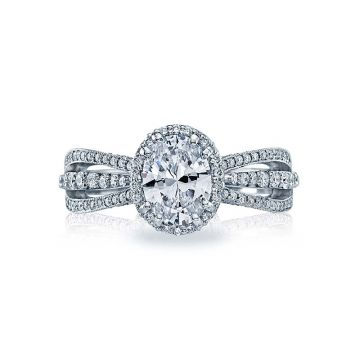 Tacori Dantela Platinum Halo Engagement Ring 2641OVP8X6