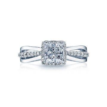 Tacori Dantela Platinum Halo Engagement Ring 2641PR6