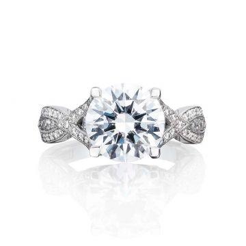 Tacori Platinum Ribbon Criss Cross Engagement Ring
