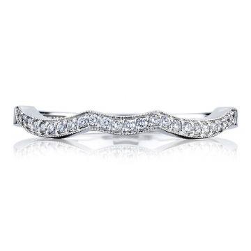Simply Tacori Platinum Diamond Curved Women's Wedding Band