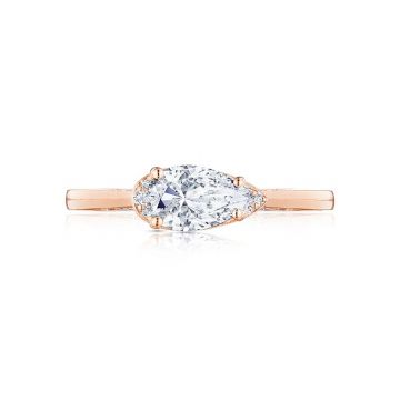 Tacori 18k Rose Gold Simply Tacori Solitaire Engagement Ring