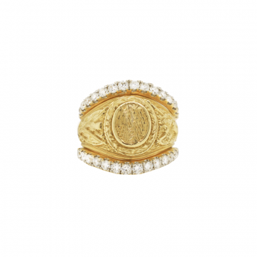 Collegiate Ring Guards 14k Yellow Gold Classic Diamond Ring Guard