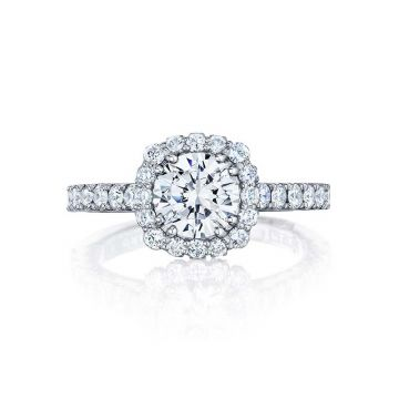 Tacori Platinum Full Bloom Halo Engagement Ring