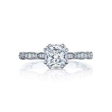 Tacori Platinum Sculpted Crescent Straight Engagement Ring