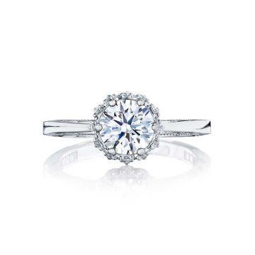 Tacori Platinum Sculpted Crescent Solitaire Engagement Ring