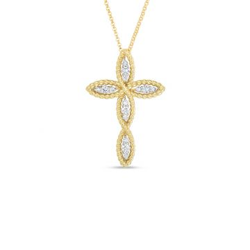 Roberto Coin 18k Yellow Gold New Barocco Diamond Pendant