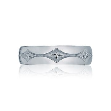 Tacori Platinum .01ct Diamond Wedding Band