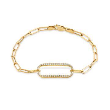 Michael M 14k Yellow Gold Diamond Bracelet