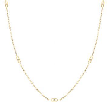 Michael M 14k Yellow Gold Diamond Necklace