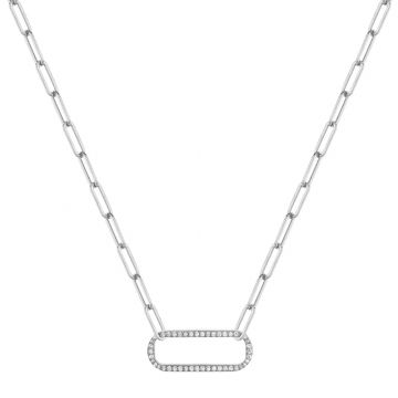 Michael M 14k White Gold Diamond Necklace