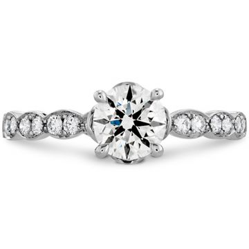 Hearts on Fire 18k White Gold Lorelei Diamond Straight Engagement Ring