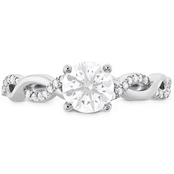 Hearts on Fire 18k White Gold Destiny Twisted Diamond Engagement Ring
