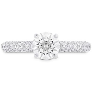 Hearts on Fire 18k White Gold Euphoria Diamond Pave Engagement Ring