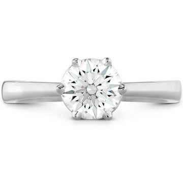 Hearts on Fire 18k White Gold Signature Diamond Solitaire Engagement Ring