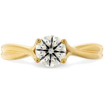 Hearts on Fire 18k Yellow Gold Simply Bridal Twisted Diamond Engagement Ring