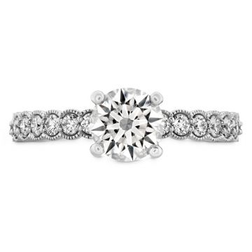 Hearts on Fire 18k White Gold Isabelle Diamond Straight Engagement Ring