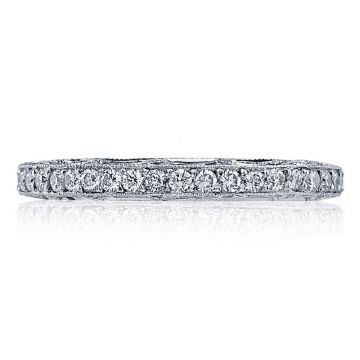 Tacori Platinum Reverse Crescent Eternity Diamond Women's Wedding Band