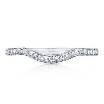 Tacori Platinum Classic Crescent Diamond Curved Women's Wedding Band