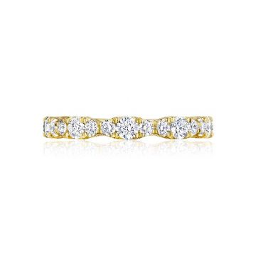 Tacori 18k Yellow Gold RoyalT Anniversary Wedding Band