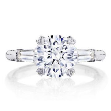 Tacori Platinum RoyalT 3 Stone Diamond Engagement Ring
