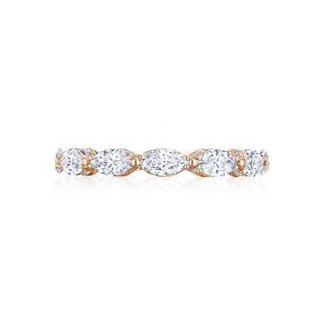Tacori 18k Rose Gold RoyalT Diamond Wedding Band