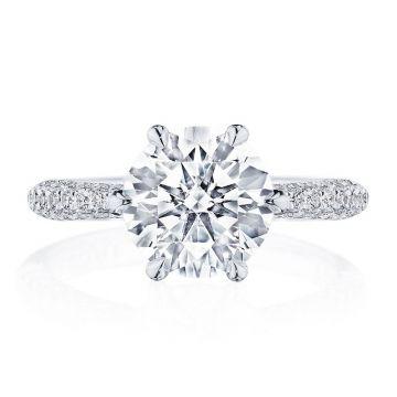 Tacori Platinum RoyalT Straight Diamond Engagement Ring