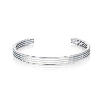 Tacori Silver Monterey Roadster Sleek Racing Lines Cuff Bracelet