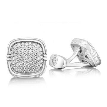 Tacori Sterling Silver Retro Classic Diamond Men's Cuffink