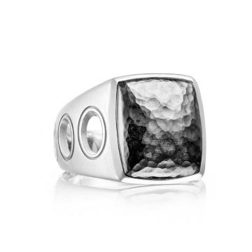 Tacori Silver Monterey Roadster Vented Hammered Silver Ring