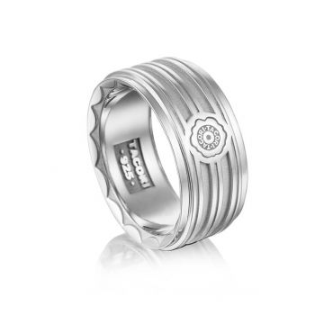 Tacori Silver Monterey Roadster Racing Lines Ring