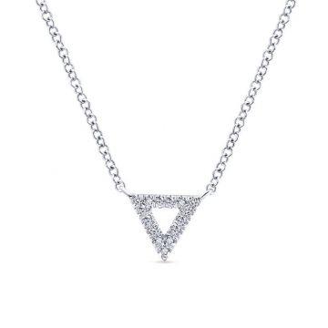 Gabriel & Co. 14k White Gold Kaslique Diamond Necklace