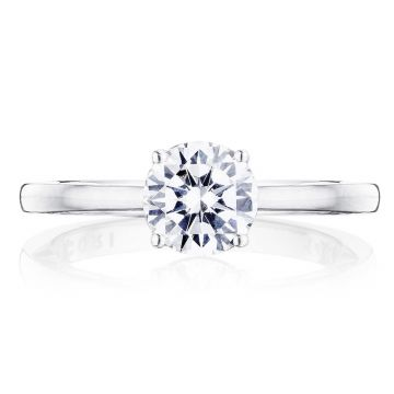 Tacori 14k White Gold Coastal Crescent Solitaire Diamond Engagement Ring