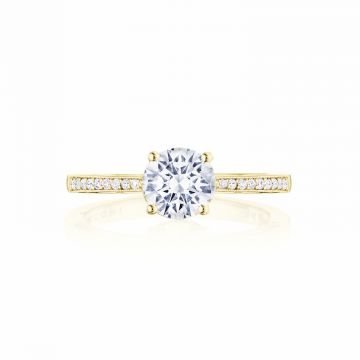 Tacori 14k Yellow Gold Coastal Crescent Straight Diamond Engagement Ring