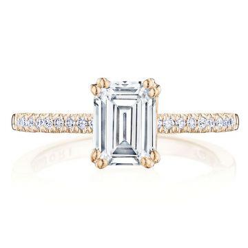 Tacori 14k Rose Gold Coastal Crescent Straight Diamond Engagement Ring