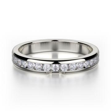 Michael M 18k White Gold Amore  Diamond Anniversary Women's Wedding Band