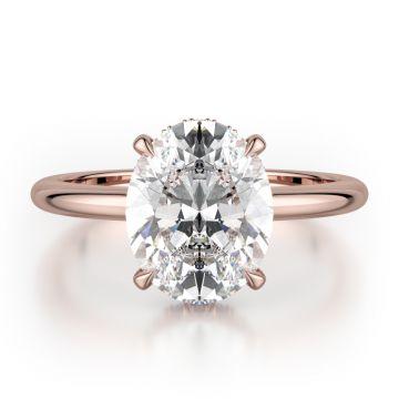 Michael M 18k Rose Gold Straight Engagement Ring