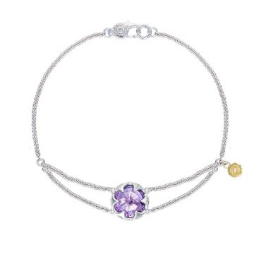 Tacori Silver Split Chain Amethyst Bangle Bracelet