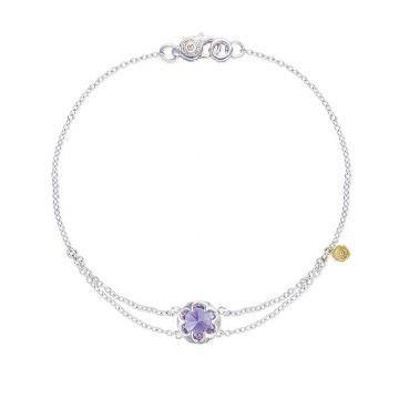 Tacori Silver Petite Split Chain Amethyst Bangle Bracelet