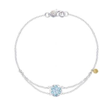 Tacori Silver Petite Split Chain Sky Blue Topaz Bangle Bracelet